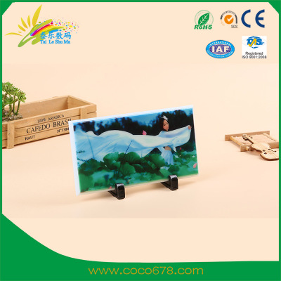 Thermal transfer machine manufacturer direct sales heat transfer printing Jade white glass high-grade glass crafts hot-stamped glass paintings can be customized 32 wholesale