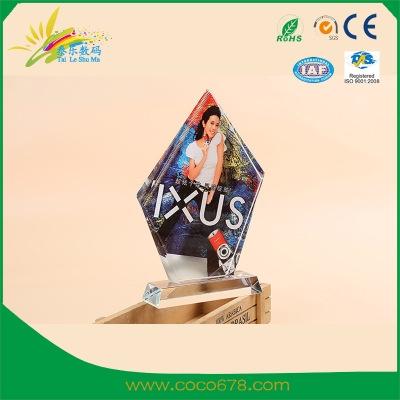广州Hot Transfer Glass Crystal Frame, Crystal Base Glass Craft Frame 35