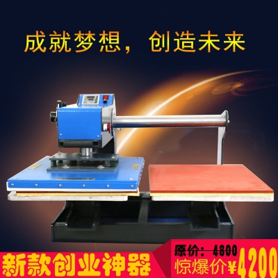 Hot Transfer Printer Manufacturer Up Sliding Pneumatic Dual-station Stamping Machine 4060 Pneumatic Stamping Machine Clothing Thermal Transfer Printing Machine Stamping Machine