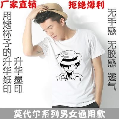 广州Short-sleeved white Modal cotton round-collar, body-shaping, pure-color blank T-shirt for wholesale undercoat heat transfer printing