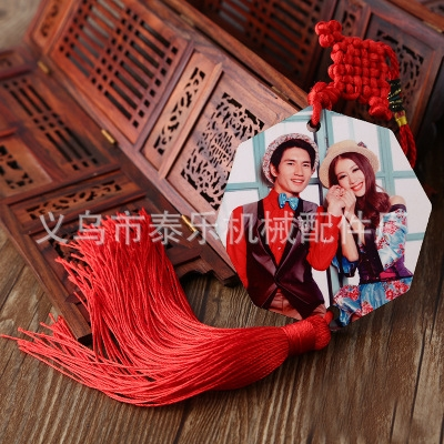 Hot transfer blank automobile hanging polygon hanging creative wooden automobile hanging factory direct selling hot stamping machine