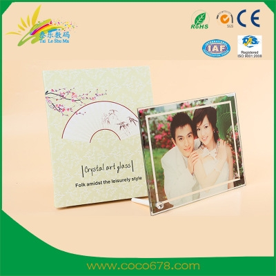 宁波Hot Transfer Printing Crystal Crafts Glass Painting High-end Customizable Crystal Frame Consumables 04 Wholesale